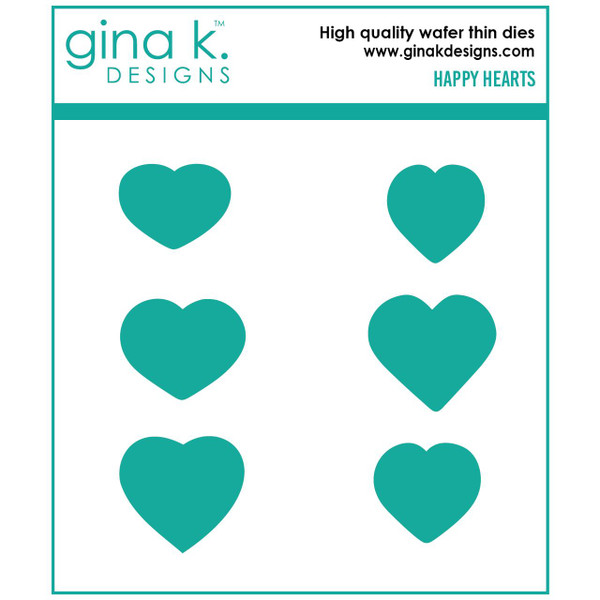 Happy Hearts, Gina K Designs Dies - 609015540206
