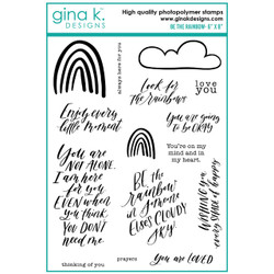 Be the Rainbow, Gina K Designs Clear Stamps - 609015540244