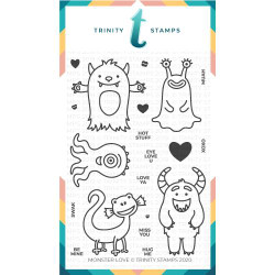 Monster Love, Trinity Stamps Clear Stamps -