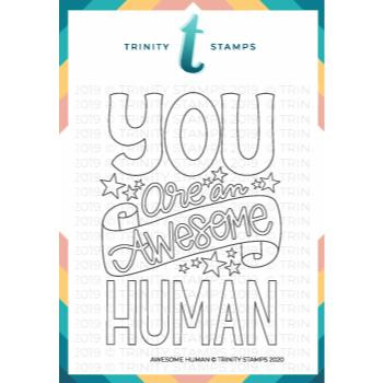 Awesome Human, Trinity Stamps Clear Stamps -
