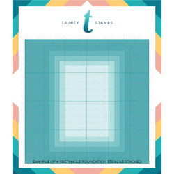 A2 Foundations: Rectangle Set of 4, Trinity Stamps Stencils -