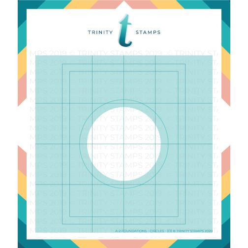 A2 Foundations: Circle Set of 4, Trinity Stamps Stencils -