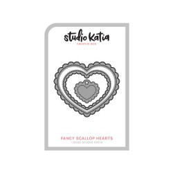 Fancy Scallop Hearts, Studio Katia Dies - 013415373874