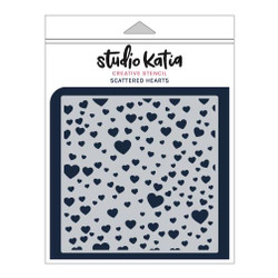 Scattered Hearts, Studio Katia Stencils - 013415375250