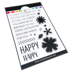 So Happy Sentiments, Catherine Pooler Clear Stamps - 819447023943