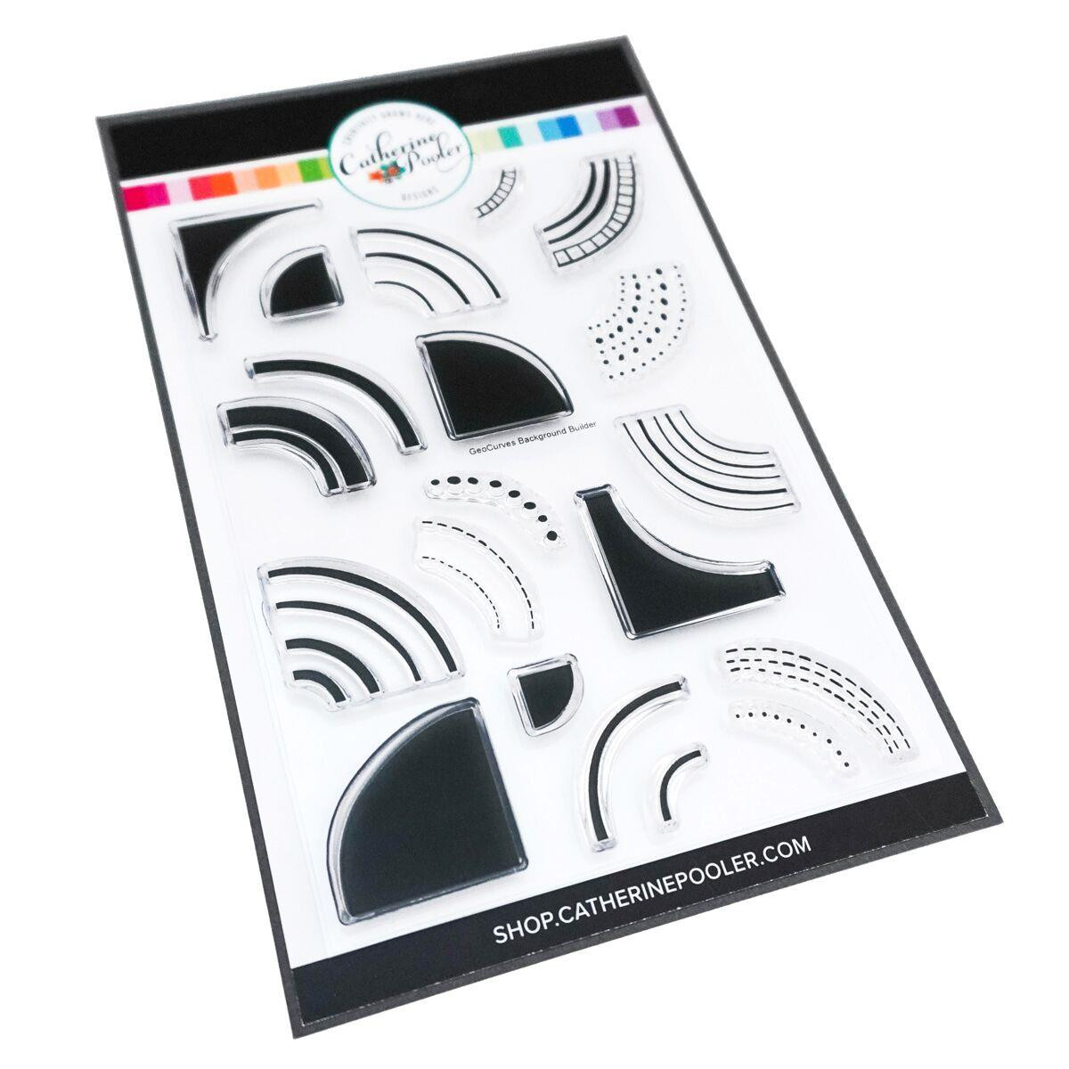 GeoCurves, Catherine Pooler Clear Stamps - 819447023974