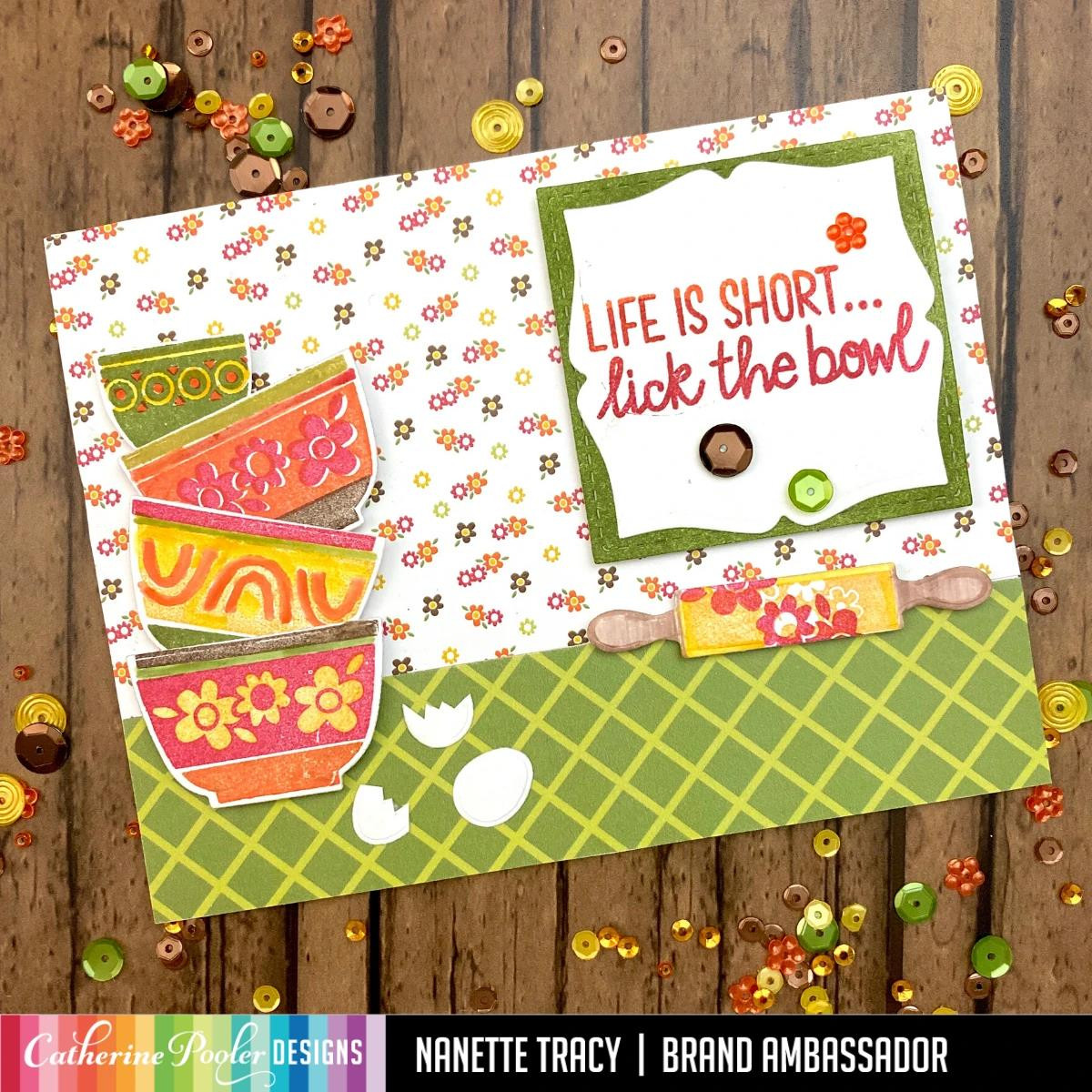 Lick the Bowl, Catherine Pooler Clear Stamps - 819447024674