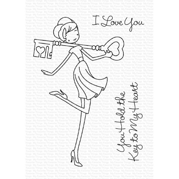a la modes - Key to My Heart, My Favorite Things Clear Stamps - 849923033944