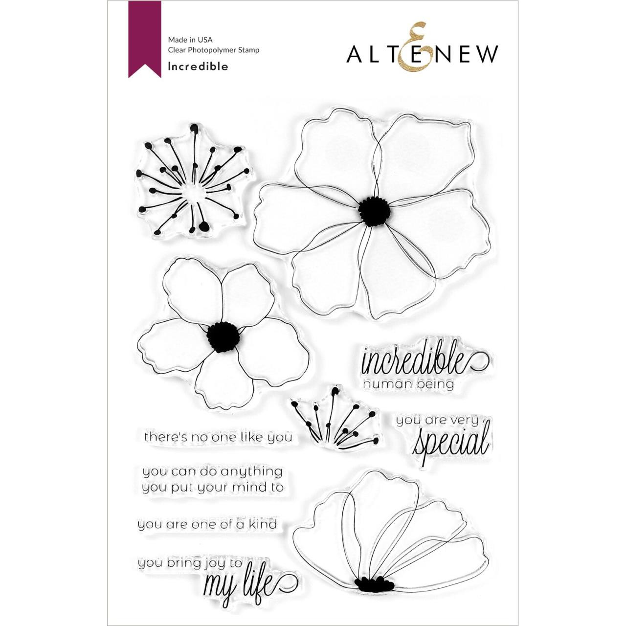 Incredible, Altenew Clear Stamps - 737787258446