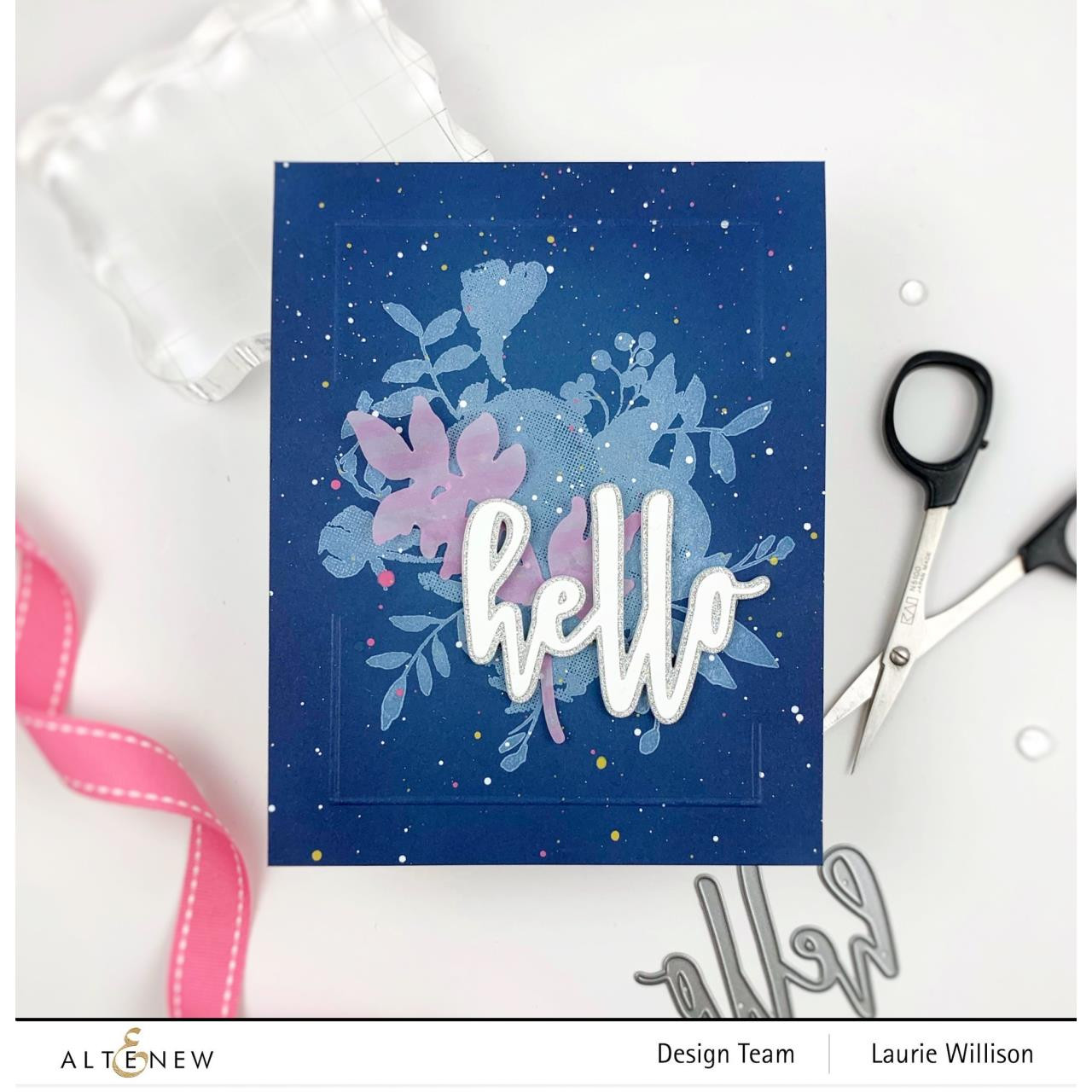 Watercolor Halftone, Altenew Clear Stamps - 737787258644