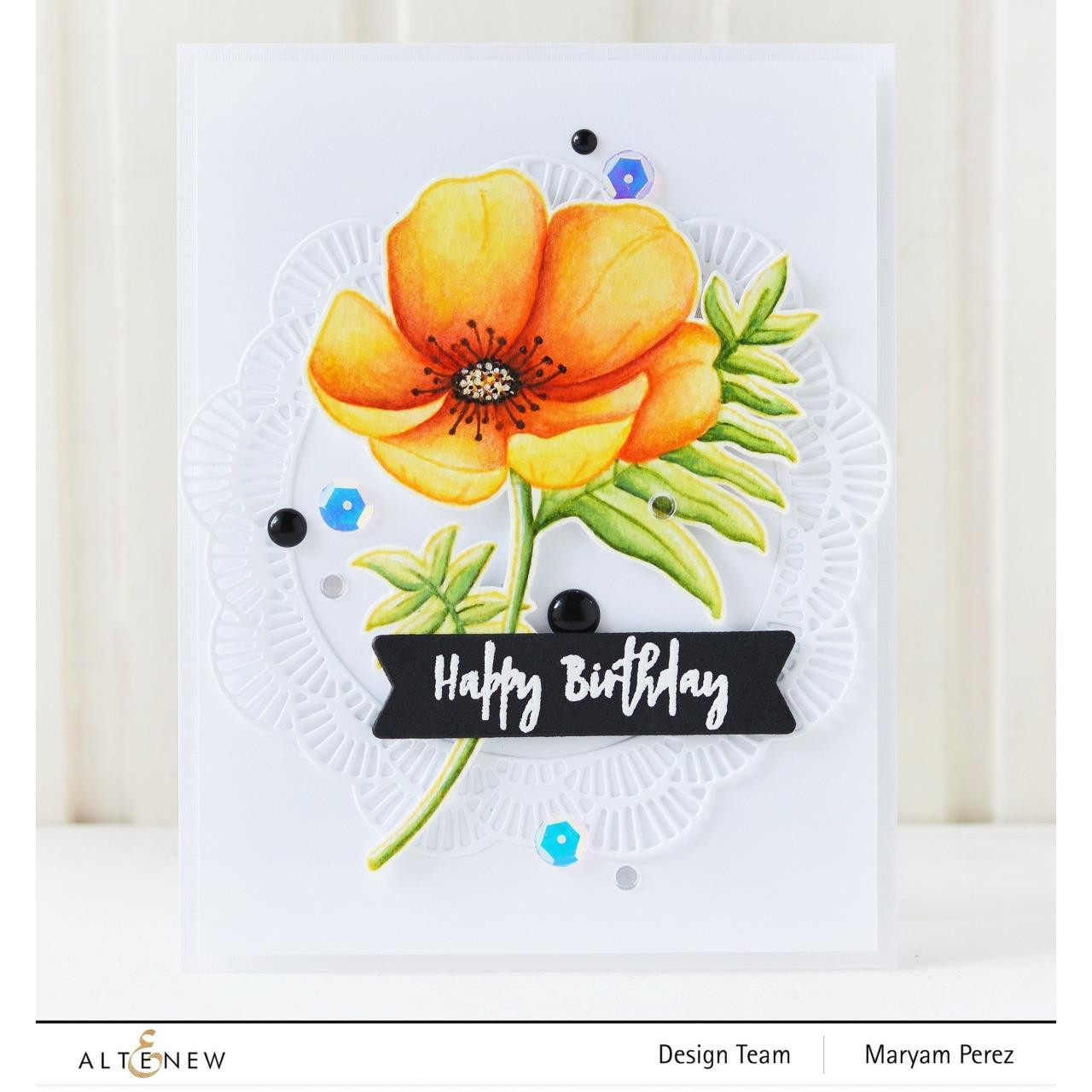 Paint-A-Flower: Poppy, Altenew Clear Stamps - 737787259986