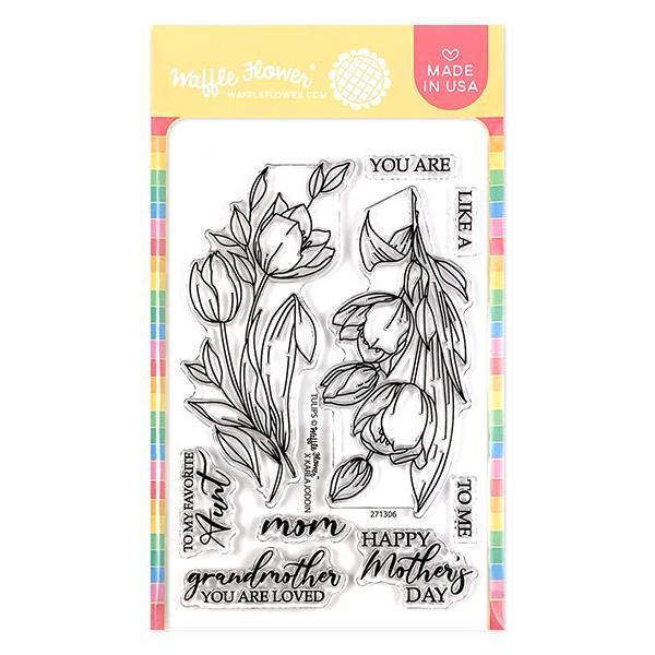 Tulips, Waffle Flower Clear Stamps - 644216791392
