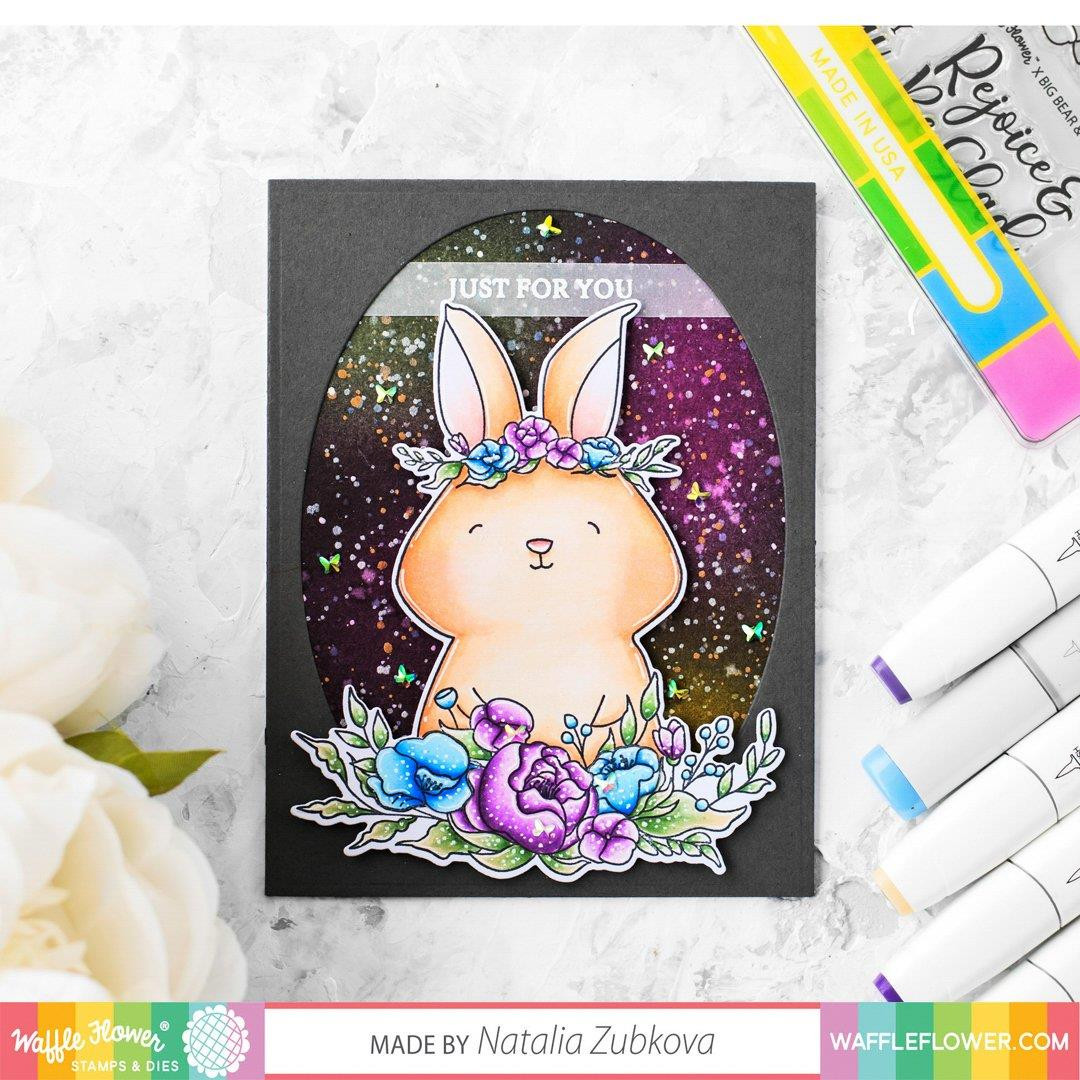 Rejoice Rabbit, Waffle Flower Clear Stamps - 644216788897