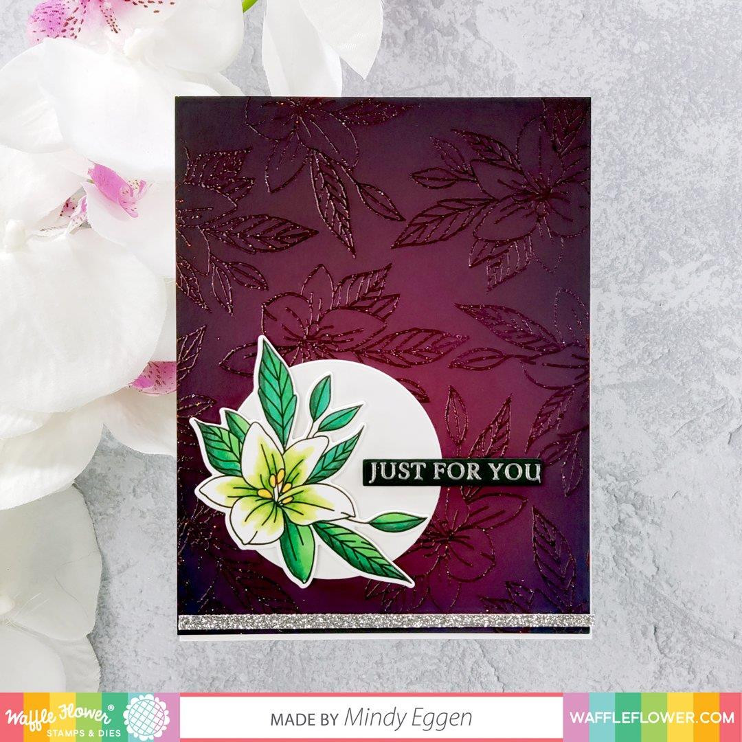 Potted Lily, Waffle Flower Stamp & Die Combo - 644216789290