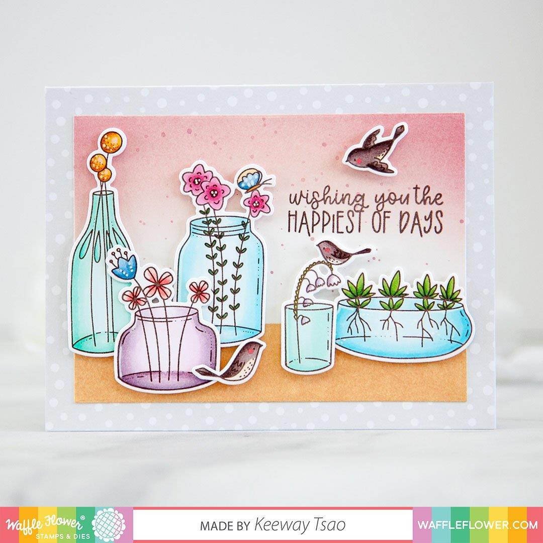 Jars Sentiments, Waffle Flower Clear Stamps - 644216788798
