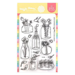 Jars of Happiness, Waffle Flower Clear Stamps - 644216788699