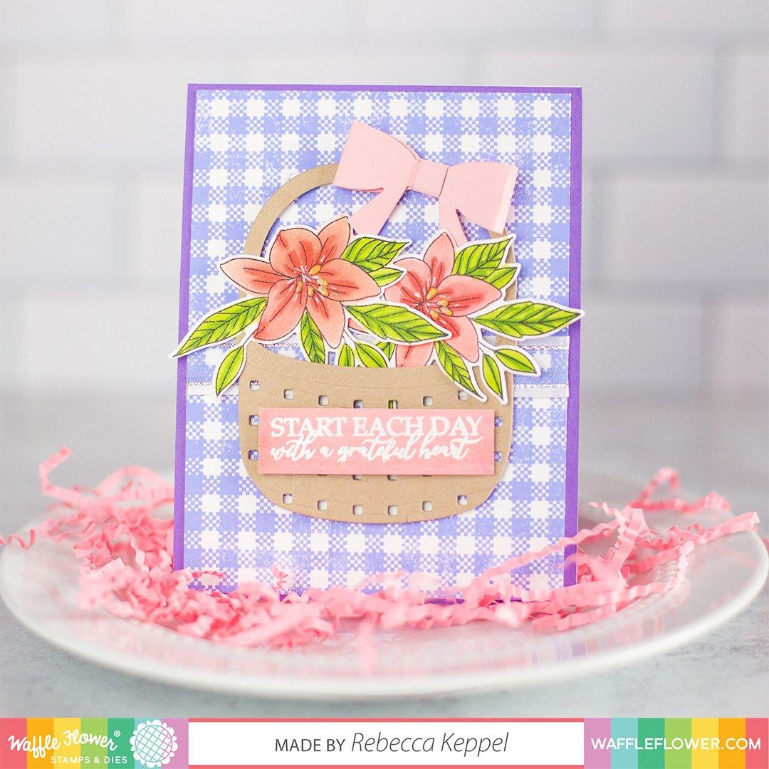 Easy 3D Bows, Waffle Flower Dies - 644216790692