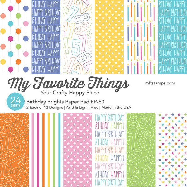 Birthday Brights, My Favorite Things Paper Pack - 849923034231