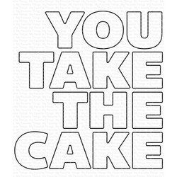 You Take the Cake, My Favorite Things Die-Namics - 849923034538