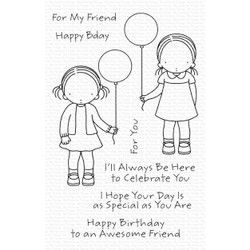 Pure Innocence - Birthday Besties, My Favorite Things Clear Stamps - 849923034415