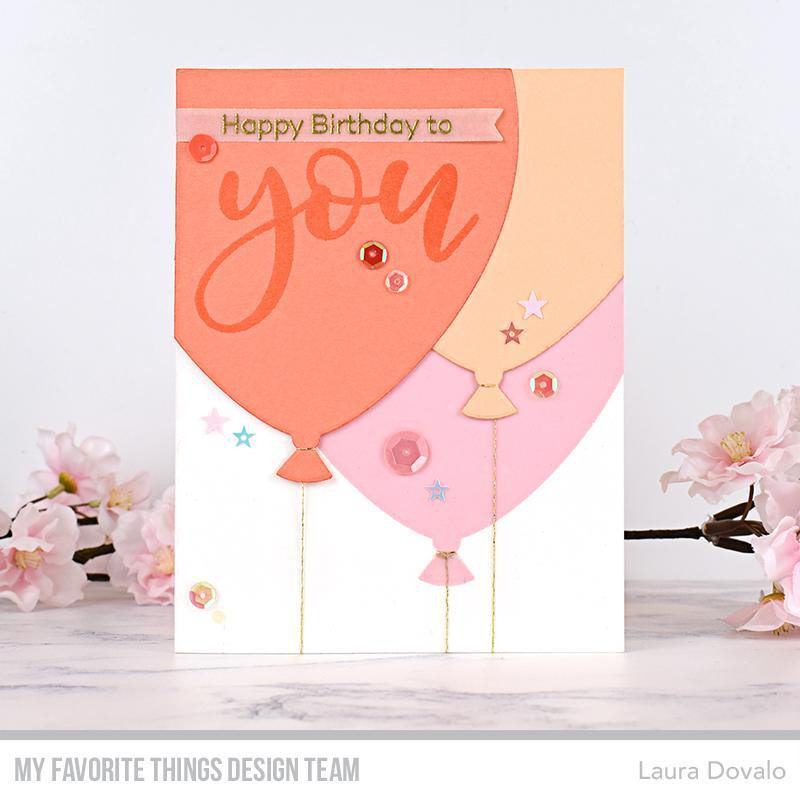 All About You, My Favorite Things Clear Stamps - 849923034361