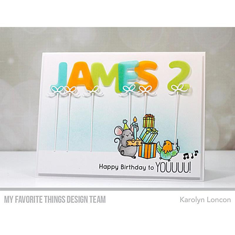 Birthday Buds by Birdie Brown, My Favorite Things Clear Stamps - 849923034347