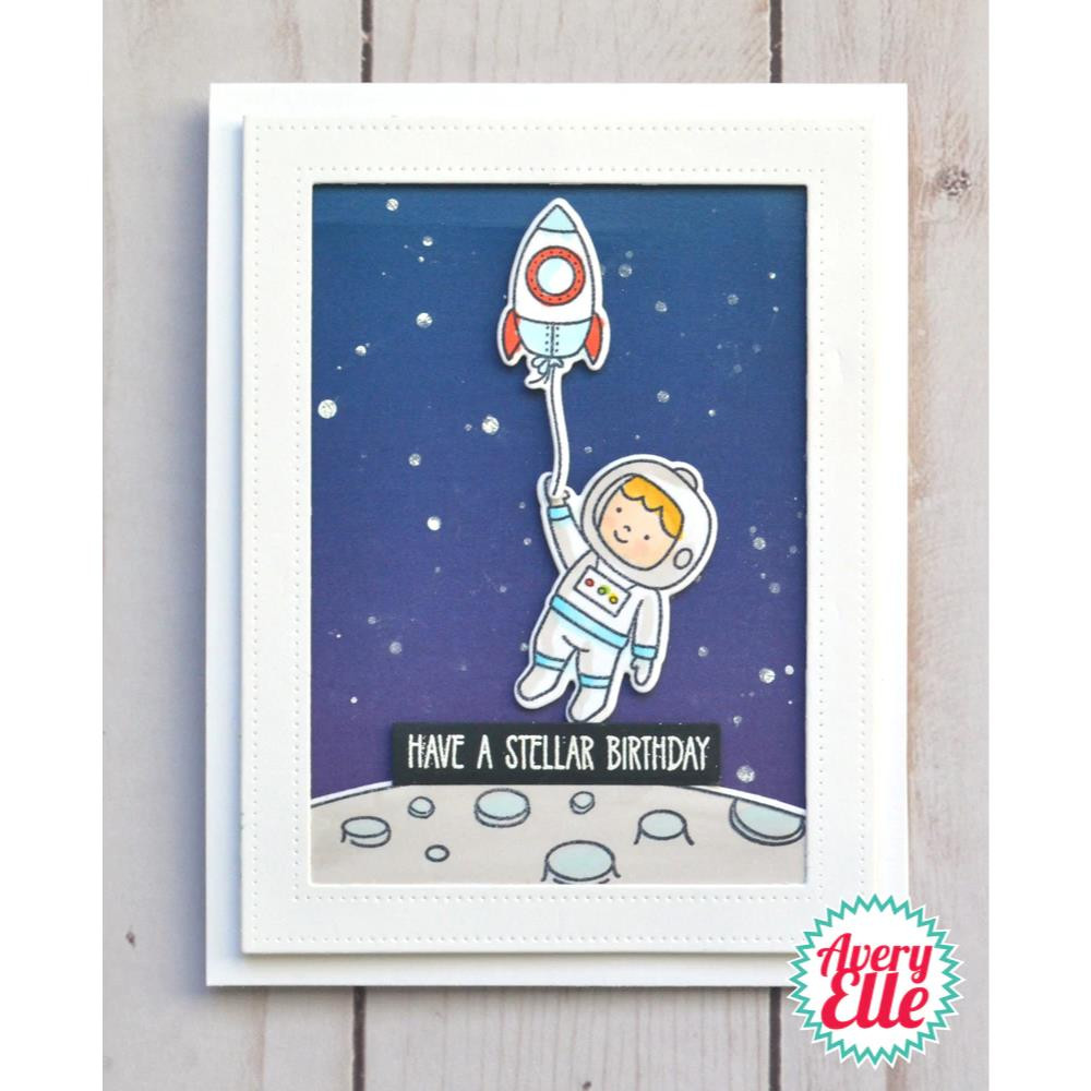 Astronauts, Avery Elle Clear Stamps - 811568028456