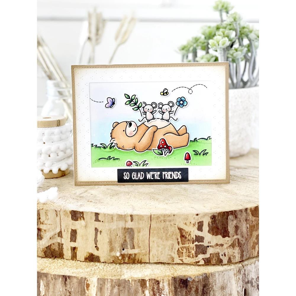 Beary Good Friends, Avery Elle Clear Stamps - 811568028449