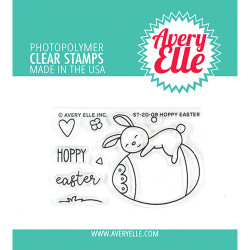 Hoppy Easter, Avery Elle Clear Stamps - 811568028470