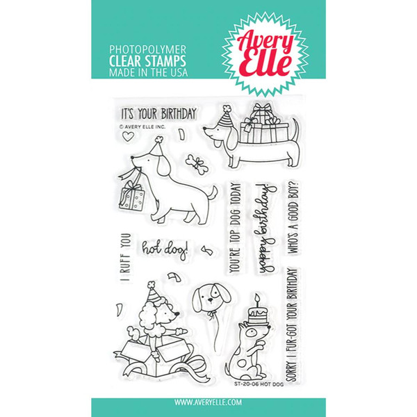 Hot Dog, Avery Elle Clear Stamps - 811568028401