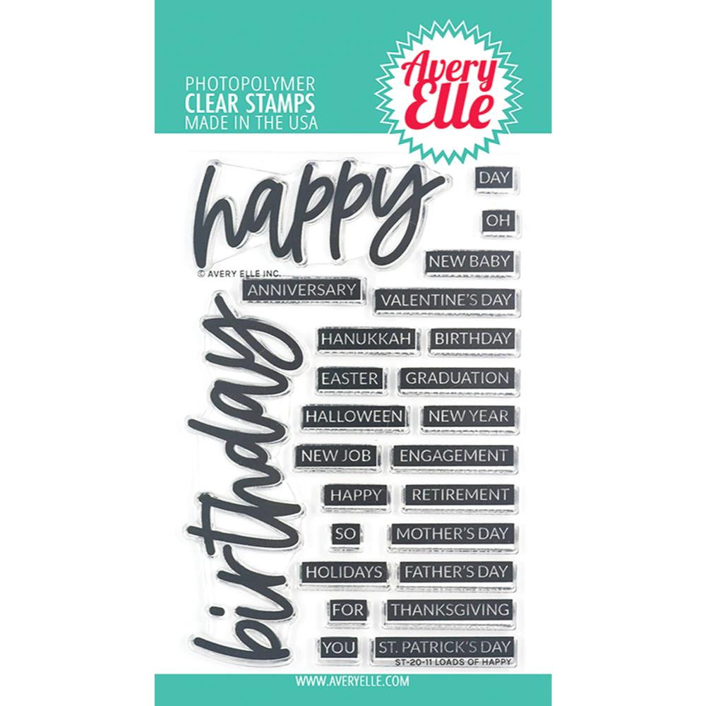 Loads of Happy, Avery Elle Clear Stamps - 811568028517