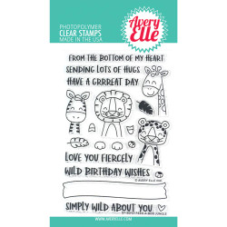 Peek-A-Boo Jungle, Avery Elle Clear Stamps - 811568028302