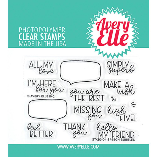 Speech Bubbles, Avery Elle Clear Stamps - 811568028364