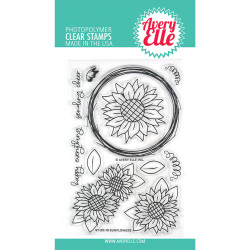 Sunflowers, Avery Elle Clear Stamps - 811568028494