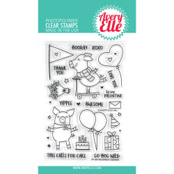 Sweet Swines, Avery Elle Clear Stamps - 811568028326