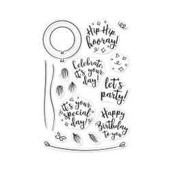 Festive Balloon, Hero Arts Clear Stamps - 085700926522