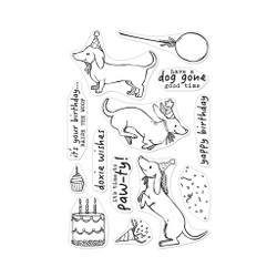 Birthday Paw-ty, Hero Arts Clear Stamps - 085700926553