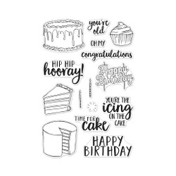Time For Cake, Hero Arts Clear Stamps - 085700926638