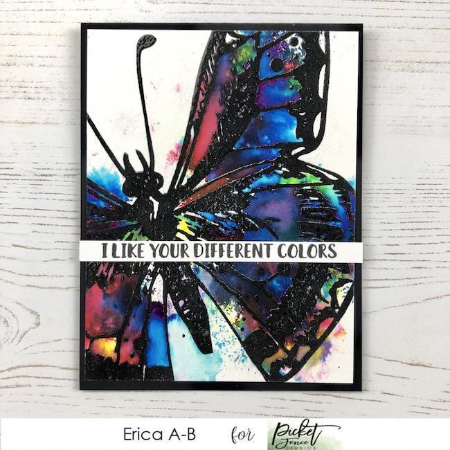 Swallowtail Beauty, Picket Fence Studios Clear Stamps -