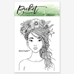 Eiko Girl, Picket Fence Studios Clear Stamps - 745558003690