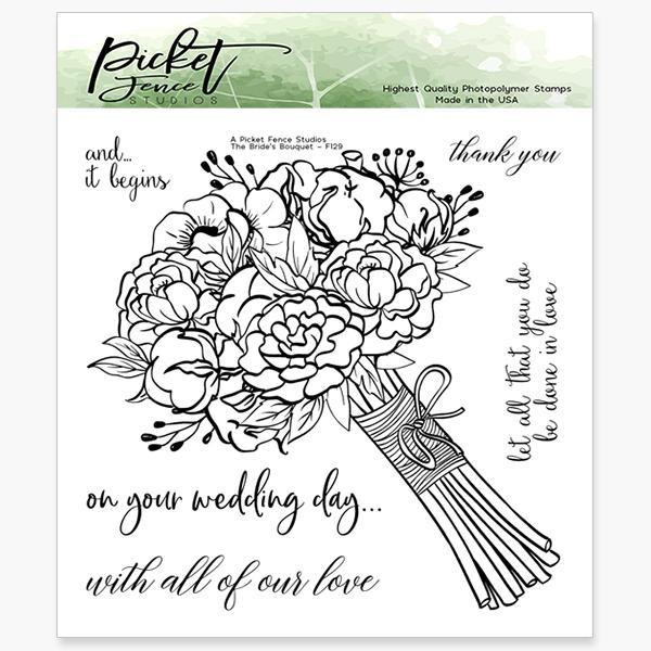 A Bride's Bouquet, Picket Fence Studios Clear Stamps - 745558001283