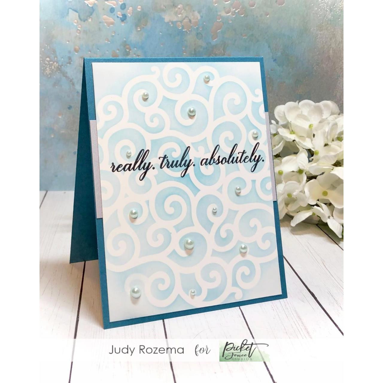 Seriously, Literally, Always, Picket Fence Studios Clear Stamps -