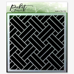 Basket Weave, Picket Fence Studios Stencils - 745558004307