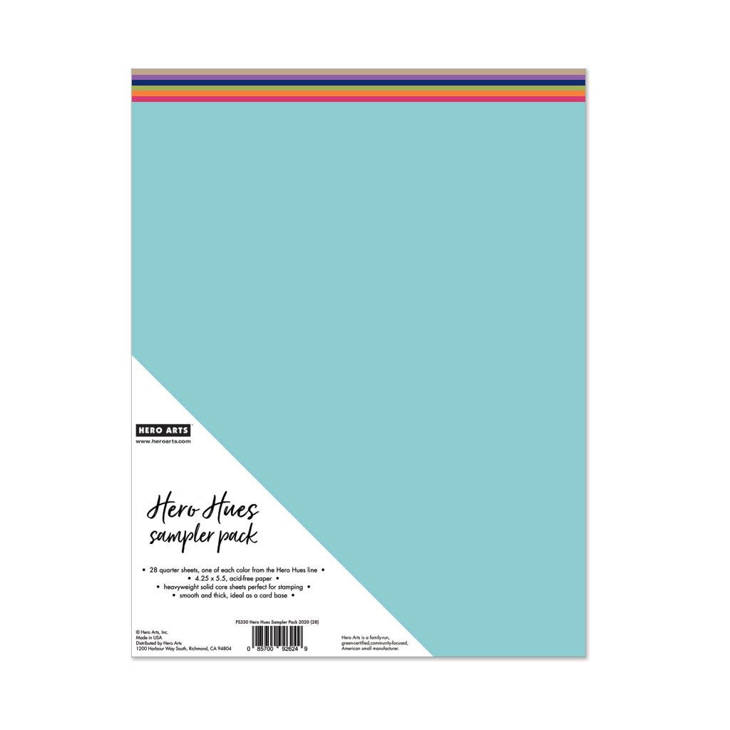 Hero Hues Sampler Pack 2020, Hero Arts Cardstock - 857009262492