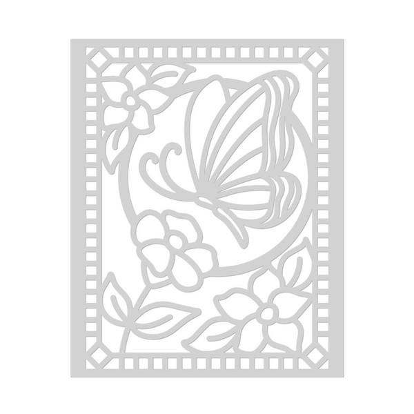 Butterfly Stained Glass, Hero Arts Stencils - 857009249318