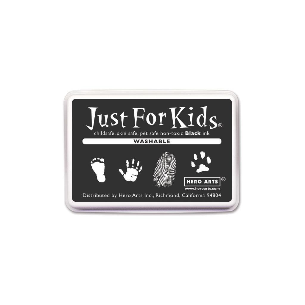 Washable Black, Hero Arts Just for Kids Ink Pad - 857009246034