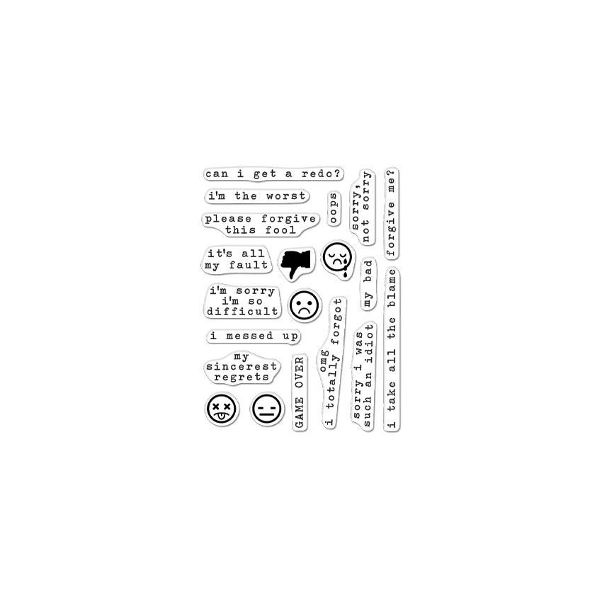 My Bad Messages, Hero Arts Clear Stamps - 857009258914