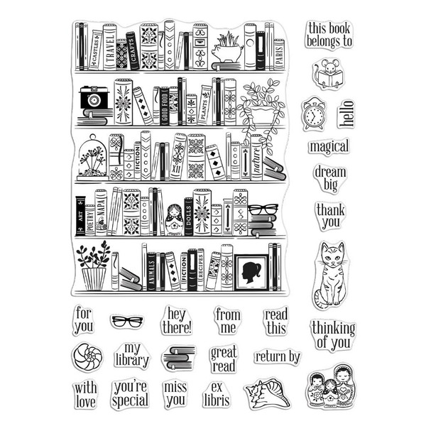 Bookcase Peek-A-Boo Parts, Hero Arts Clear Stamps - 857009250680