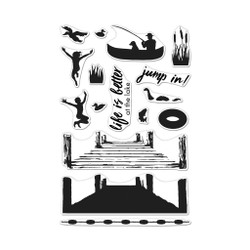 Color Layering Pier at the Lake, Hero Arts Clear Stamps - 857009250512