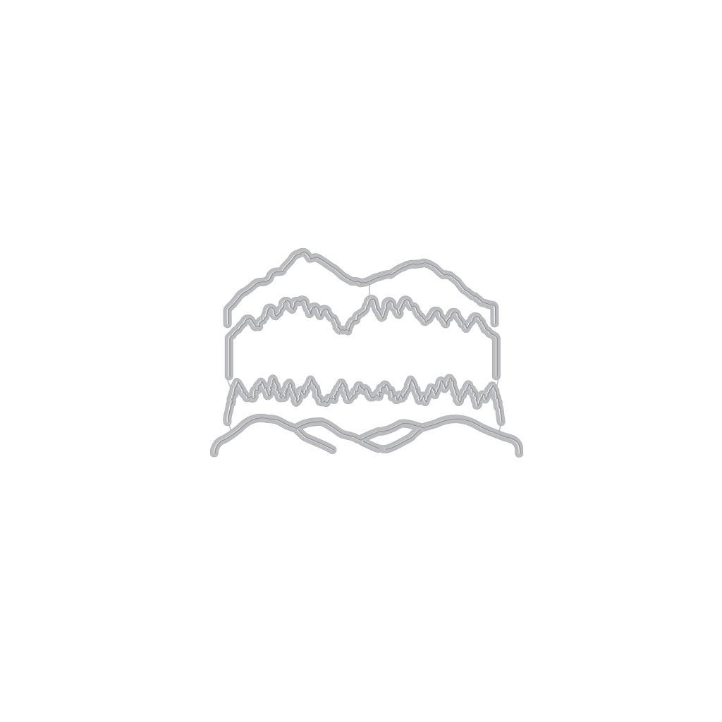 Color Layering Mountains at the Lake, Hero Arts Clear Stamps - 857009250444